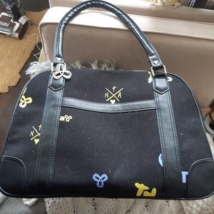 TNA Aritzia black duffel gym bag
